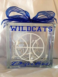 Kentucky Wildcats Fans Glass Block by MorrisMonogramming on Etsy
