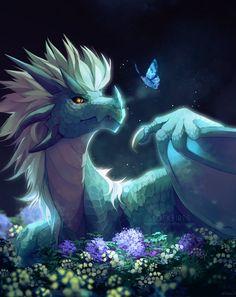 "Frostbite by clockbirds. Azymondias ""Zym,"" son of Avizandum ""Thunder"" and Zubeia. Mythical Creatures Art, Magical Creatures, Fantasy Creatures, Prince Dragon, Dragon Princess, Dragon Artwork, Dragon Drawings, Fantasy Beasts, Beautiful Dragon"