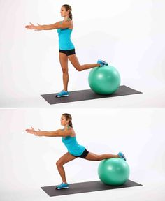 Doing lunges with your back leg resting on a ball offers the instability you need to make your lower body w...