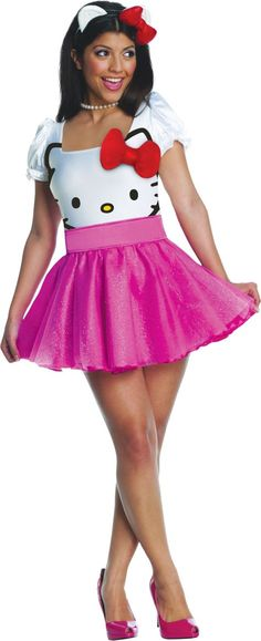 Adult Hello Kitty Costume - Party City $35.00 - XSMALL FOR CHILD IN UNDERWATER SHOOT