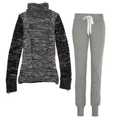 The Perfect Post-Christmas Outfit, Sweats that are actually cute.