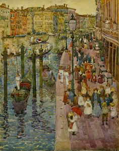 Maurice Brazil Prendergast - The Grand Canal Venice fine art preproduction . Explore our collection of Maurice Brazil Prendergast fine art prints, giclees, posters and hand crafted canvas products Art And Illustration, Art Beauté, Grand Canal Venice, Pintura Exterior, Impressionist Artists, Post Impressionism, Art Moderne, Jackson Pollock, Fine Art