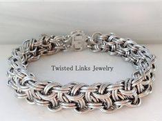 Elise- handmade jewelry set, OOAK jewelry set, beaded jewelry set, artisan jewelry set- gift for her- handmade necklace- handmade earrings - Custom Jewelry Ideas Jump Ring Jewelry, Metal Jewelry, Custom Jewelry, Beaded Jewelry, Earrings Handmade, Handmade Jewelry, Do It Yourself Jewelry, Viking Knit, Chainmaille Bracelet