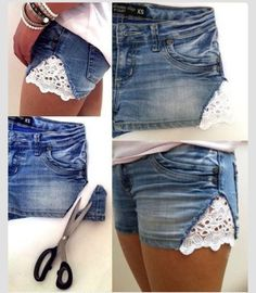 Diy Lace Slit Shorts.. I'm Definitely Do This When Summer Comes!!