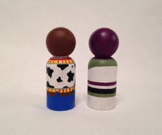 Toy Story peg dolls 2pc Set by PegHeads on Etsy