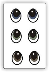 Free Printable Eyes - PDF pattern @MyScrapChick.com.com