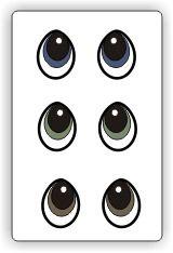 Free Printable Eyes - PDF pattern @MyScrapChick.com.com.com