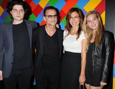 "Dave and his family attend the premiere of ""A most wanted man"" July 2014 NYC."
