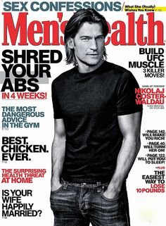 Nicolaj Coster-Waldau - Men's Health Magazine Cover [United States] (May 2013)