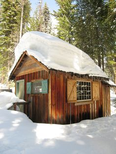 Image result for small snow cabin