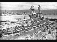 USS Nevada entering Pearl Harbor's Drydock No. 18 Feb x Military Photos, Military History, Remember Pearl Harbor, Veterans Services, Uss Lexington, Us Navy Ships, Pearl Harbor Attack, Sea To Shining Sea, Big Guns