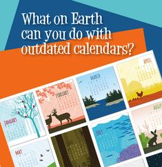What on Earth can you do with old calendars-eco friendly ideas for repurposing old calendars Upcycle Home, Easy Crafts, Crafts For Kids, Green Bin, Kids Calendar, Nature Crafts, New Years Party, Recycled Crafts, Fun Projects