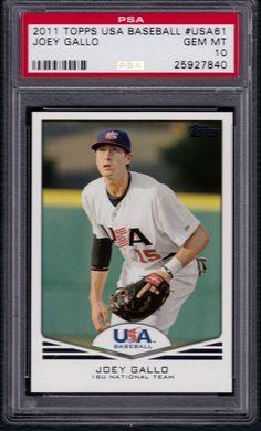 2011 Topps Team USA JOEY GALLO Rangers Rookie PSA 10 Gem Mint
