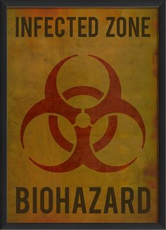 Infected Zone Poster by The Artwork Factory