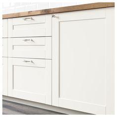 Ideas Kitchen Ikea Savedal White Cabinets For 2019 Kitchen Cabinets And Cupboards, Base Cabinets, White Cabinets, Ikea Savedal, Kitchen And Bath, New Kitchen, Paris Kitchen, Replacement Kitchen Doors, Corner Base Cabinet