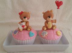 Cupcakes de Pareja de Ositos