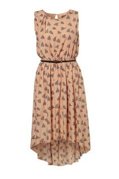 Peach dip dress