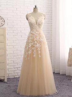 A-line Straps Floor-length Prom Dresses 42b5f3c5f3de