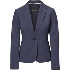 Classic-Fit Lightweight Wool Blazer (11.410 RUB) ❤ liked on Polyvore featuring outerwear, jackets, blazers, woolen jacket, lightweight blazer, wool blazer, light weight blazer and lightweight jacket
