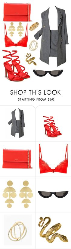 """Business 🔥"" by fallangel ❤ liked on Polyvore featuring Karl Lagerfeld, Nasty Gal, Lanvin, La Perla, Annie Costello Brown, PAWAKA, Charlotte Chesnais and Armenta"
