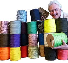 Paracord  Parachute Cord 7Strand 550 Lb Break Strength Guaranteed US Made Type III Military Survival 550 Cord 18 inch in diameter 25 colors for Bracelets and Projects Includes Two Ebooks >>> Be sure to check out this awesome product.