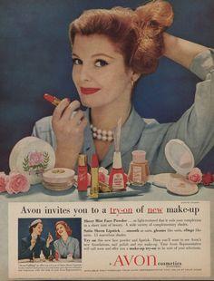 vintage Avon adverts | Avon Ad 1950's | Avon Ads Through the Years | Pinterest