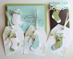 stocking punch These would be cute for baby shower thank you's. As booted