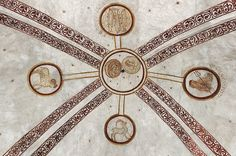 """Triple Pisces - Germany - Signs of the zodiac: """"The ceiling of the church has paintings that date back to the 13th century. Scholarly speculation suggests that Wormbach might have been a pre-christian location for sun observation rituals"""" (was aber nach Auskunft eines einheimischen Forschers nicht stimmt)."""