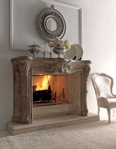 pretty fireplace  #home #decor