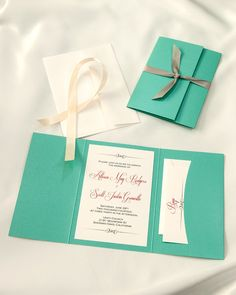 Tiffany Lagoon Blue Pocket folder wedding invitations, Tiffany Lagoon printable wedding pocketfolders, Tiffany Lagoon DIY printable wedding invitation kits, Tiffany Lagoon do it yourself wedding invitations
