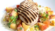 Jason Parsons crafts the perfect flavour combo with his savoury grilled chicken paired with sweet peach!