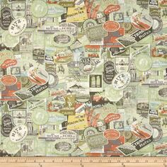 Tim Holtz Eclectic Elements Travel Labels Multi from @fabricdotcom