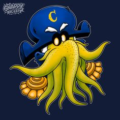 Captain Cthulhu Fhtagn! Captain Cthulhu navy blue T-shirts and baby onesies by @pigboom.   #cthulhu #captaincrunch #capncrunch #cereal #shirt #tee #cthulhutee #cthulhushirt #babyfashion #babyclothing #kidsclothing #kidstees #kidsfashion #kidclothes