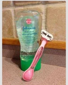 Best Way To Shave your Legs! Johnson's baby oil gel :)