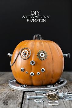 DIY Steampunk Pumpki