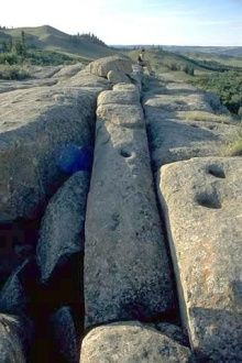 Mystery Rocks, Cypress Hills, Saskatchewan - How did these weird shaped rocks… Places To Travel, Places To See, Saskatchewan Canada, Cypress Hill, Canada 150, Ancient Mysteries, Largest Countries, The Province, Canada Travel