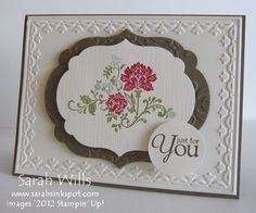Gorgeous Fresh Vintage card - Sarah Wills - Stampin' Up!