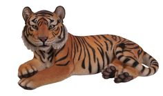 Laying Down Bengal Tiger Figurine
