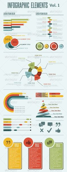 Infographic flat elements design | Flats, Infographics and Design ...