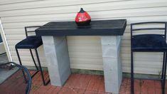 Best garden table concrete cinder blocks ideas - All About Patio Diy, Backyard Patio, Backyard Landscaping, Patio Ideas, Yard Ideas, Backyard Projects, Outdoor Projects, Cinder Block Furniture, Cinder Blocks