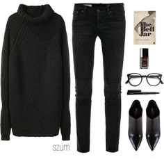 A fashion look from March 2014 featuring 3.1 Phillip Lim, low rise jeans and black boots. Browse and shop related looks.