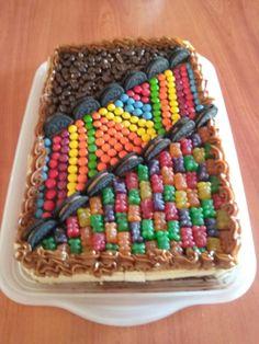 Torta golosinas Bolo Fondant, Cake Recipes, Dessert Recipes, Surprise Cake, Unique Cakes, Cake Designs, Chocolates, Chocolate Cake, Cupcake Cakes