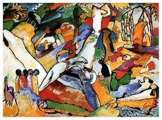 "Study to ""Composition II"", 1910, Wassily Kandinsky Size: 97.5x130.5 cm"