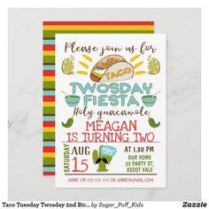 Taco Tuesday Twosday 2nd Birthday Invitation Taco Party, Fiesta Party, Party Party, 2nd Birthday Invitations, Invites, Chalkboard Invitation, Party Guests, Happy Birthday Cards