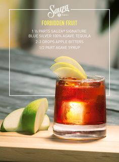 Seasonal apples make this 100% blue agave Sauza® creation really sing. For more tequila recipes like the Forbidden Fruit, check us out @ us.sauzatequila.com