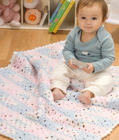 Grandma's Favorite Baby Blanket Crochet Pattern | Red Heart