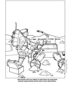 Astronaut coloring pages to print Coloring Challenges for Kids