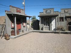 1 - Verne has built awesome cowboy towns at our last 3 homes.  Our current backyard on Indian Hills Dr. Lake Havasu City AZ.