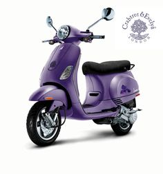 What would I do with a purple Vespa exactly?  I'm not sure, but it's so cute I still want one.