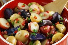 Red, White and Blue Potato Salad Recipe from our friends at the U.S Potato Board